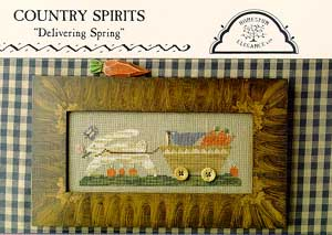 Homespun Elegance - Country Spirits Collection - Delivering Spring - Cross Stitch Pattern