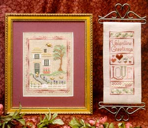 Elizabeth's Designs - Hyacinth House - Valentine Greetings- Cross Stitch Patterns