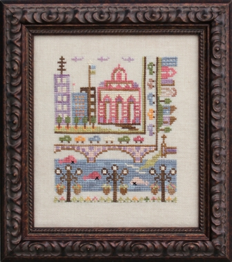 Ink Circles - Bad Neighborhoods - Part 1 of 6 - Troubled Water - Cross Stitch Pattern
