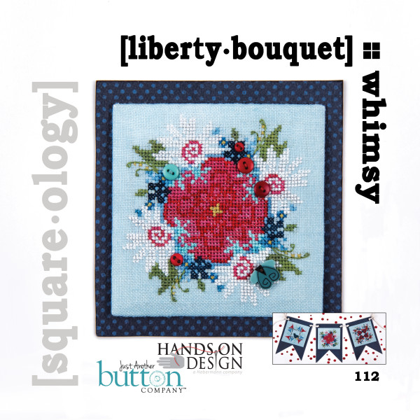 Hands On Design & Just Another Button Company - Square.ology - Whimsy - liberty.bouquet