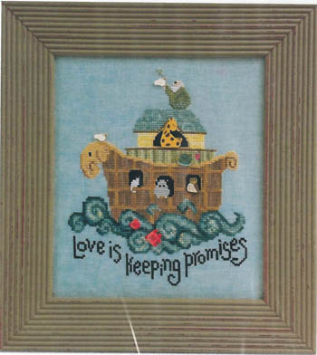 Just Another Button Company - Keeping Promises - Cross Stitch Pattern with Buttons