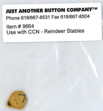 Just Another Button Company - Santa's Village Reindeer Stables - Button