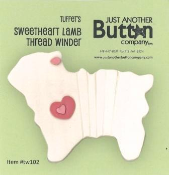 Just Another Button Company - Tuffet's Travels - Sweetheart Lamb Thread Winder