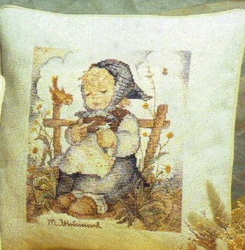 M.I. Hummel - He Loves Me? - Counted Cross Stitch Kit