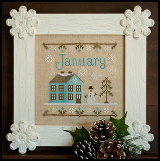 Country Cottage Needleworks - Cottage of the Month 01 - January Cottage-Country Cottage Needleworks - Cottage of the Month, January Cottage, Cross Stitch Pattern