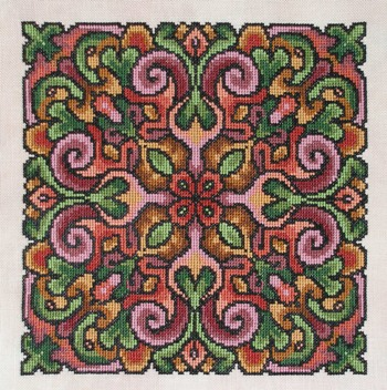 Ink Circles - Just Rosy - Cross Stitch Pattern