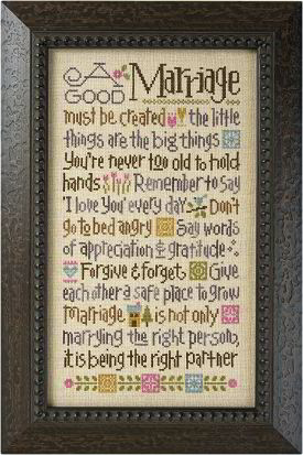 Lizzie Kate - A Good Marriage - Cross Stitch Kit