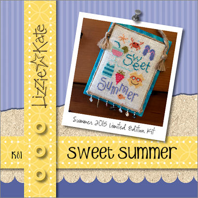 Lizzie Kate - Sweet Summer 2015 Limited Edition Kit-Lizzie Kate - Sweet Summer 2015 Limited Edition Kit, summertime, cross stitch