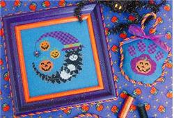 Stitchy Kitty - Halloween Kitty Moon - Cross Stitch Pattern