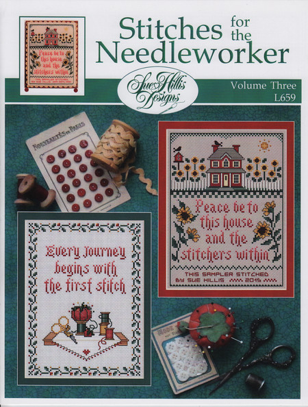 Sue Hillis Designs - Stitches for the Needleworker - Volume 3-Sue Hillis Designs - Stitches for the Needleworker - Volume 3, home, buttons, stitching, peace, prayers,
