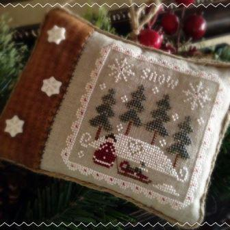 Little House Needleworks - All Dolled Up - Part 1 - Snowy Winter-Little House Needleworks - All Dolled Up - Snowy Winter, ornaments, sled, cross stitch
