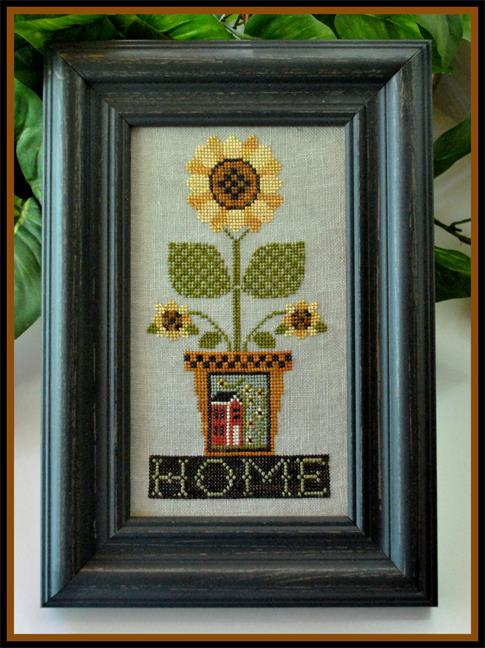 Little House Needleworks - Home is Where the Sunflowers Grow - Cross Stitch Pattern