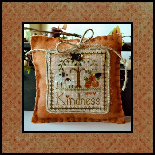 Little House Needleworks - Little Sheep Virtues - Part 10 of 12 - Kindness - Cross Stitch Pattern