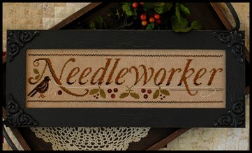 Little House Needleworks - Needleworker - Cross Stitch Pattern with Crescent Colours Threads