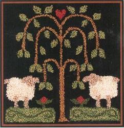 Little House Needleworks - Sheep Gathering - Punchneedle