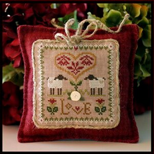 Little House Needleworks - Little Sheep Virtues - Part 02 of 12 - Love - Cross Stitch Pattern