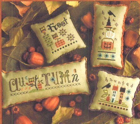 Lizzie Kate - Autumn Smalls-Lizzie Kate - Autumn Smalls, fall, hoot, Halloween, haunted, cross stitch