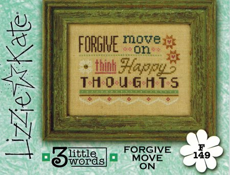 Lizzie Kate - 3 Little Words Flip-it Series - 2 of 7 - Forgive Move On - Cross Stitch Pattern