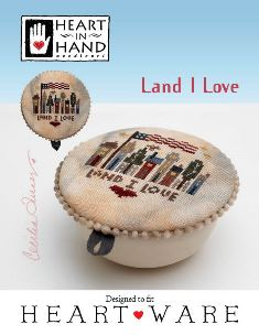 Heart in Hand Needleart - Land That I Love-Heart in Hand Needleart - Land That I Love, USA, patriotic, America, Cross Stitch