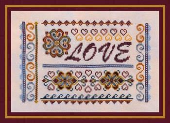 Turquoise Graphics & Designs - Love Sampler - Cross Stitch Pattern