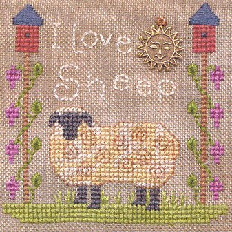 Elizabeth's Designs - I Love Sheep - Cross Stitch Pattern
