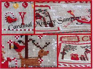 Mani di Donna - Cardinal Mystery Sampler Part 2-Mani di Donna - Cardinal Mystery Sampler Part 2, Christmas, ornaments, Santa Claus,