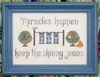My Big Toe Designs - Miracles Happen - Cross Stitch Pattern