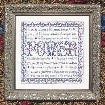 My Big Toe Designs - Building Block - Power - Cross Stitch Pattern