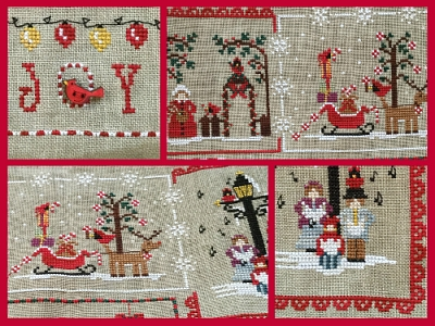 Mani di Donna - Cardinal Mystery Sampler Part 3-Mani di Donna - Cardinal Mystery Sampler Part 3, Christmas, ornaments, cross stitch, Santa Claus,