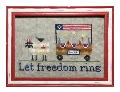 Needle Bling Designs - The Sheep Peddler Series - Let Freedom Ring