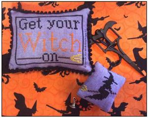 Needle Bling Designs - Get�Your�Witch�On - Scissor Fob & Pincushion Limited Edition Kit-Needle Bling Designs - GetYourWitchOn- Scissor Fob  Pincushion Limited Edition Kit