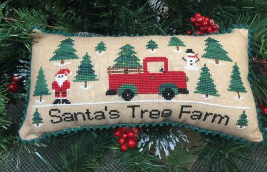 Needle Bling Designs - Santa�s Tree Farm-Needle Bling Designs - Santas Tree Farm, Santa Claus, Christmas, Christmas Trees, cross stitch,