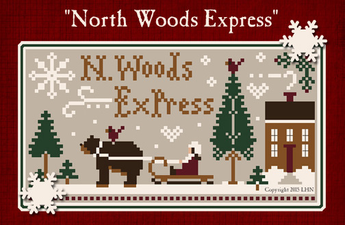 Little House Needleworks - North Woods Express-Little House Needleworks - North Woods Express, polar bear, snow, Christmas,