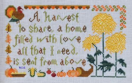 Cottage Garden Samplings - My Garden Journal - Part 11 of 12 - November's Chrysanthemum - Cross Stitch Pattern