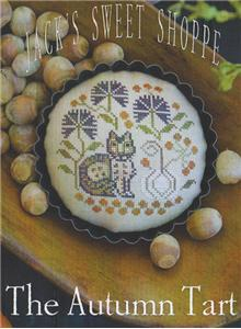 Plum Street Samplers - Jack's Sweet Shoppe The Autumn Tart - Cross Stitch Pattern