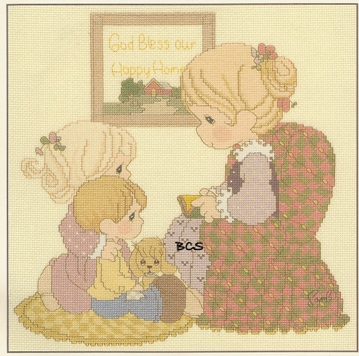 Amazon.com: precious moments cross stitch: Books