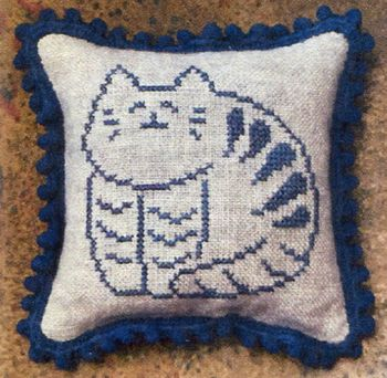 Priscilla's Pocket - Stoneware Cat- Pinpillow Kit