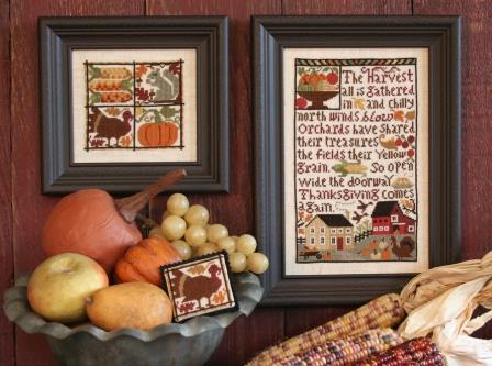 Prairie Schooler - Thanksgiving Comes Again-Prairie Schooler - Thanksgiving Comes Again, Thanksgiving, feast, family, fall, cross stitch