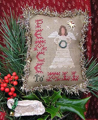 Homespun Elegance - Merry Noel Collection - Peace To All - Cross Stitch Pattern