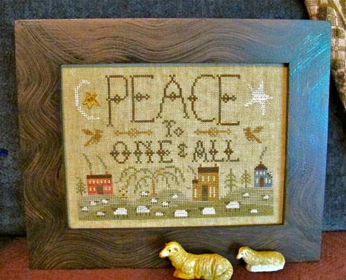 Homespun Elegance - Purely Sampler Collection - Peace To One & All - Cross Stitch Pattern