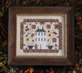 Plum Street Samplers - Penny Autumn-Plum Street Samplers - Penny Autumn, house, crow, penny rug, primitive, cross stitch
