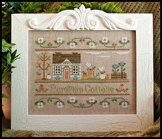 Country Cottage Needleworks - Pumpkin Cottage - Cross Stitch Pattern