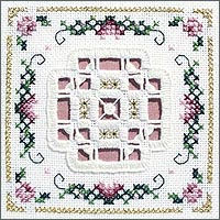 Victoria Sampler - Rose Garden  Beyond Cross Stitch  Level 5  Blanket Stitch and Spider Web