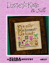 Lizzie Kate - Flora McSample - Be Silly - Cross Stitch Pattern