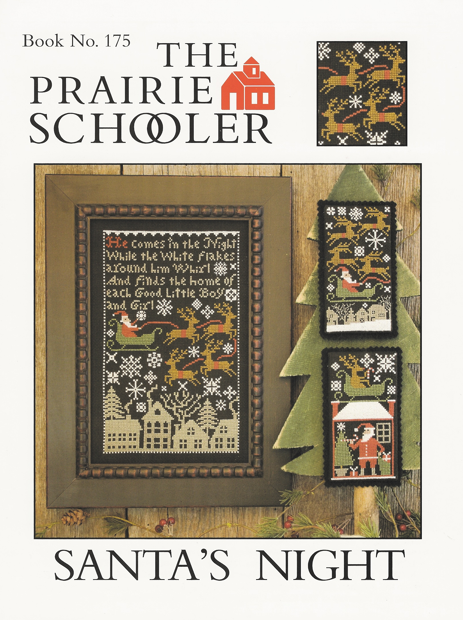 Prairie Schooler - Santa's Night  Cross Stitch Pattern