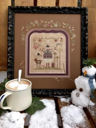 Shepherd's Bush - Chocolate Snowman Kit-Shepherds Bush - Chocolate Snowman, chocolate, brown, winter, sweets, cross stitch