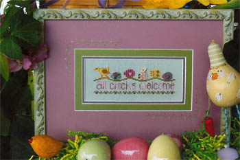Shepherd's Bush - All Chicks Welcome - Cross Stitch Pattern