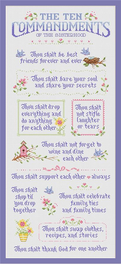 Sue Hillis Designs - Ten Commandments