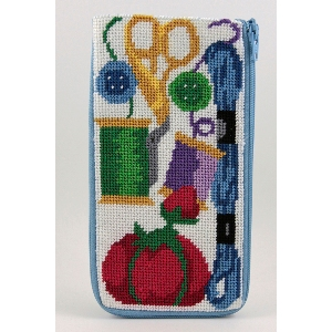 Alice Peterson Needlepoint - Stitch & Zip -Sewing - Eyeglass/Cell Phone Case