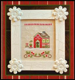 Country Cottage Needleworks - Santa's Village - Part 11 of 12 - Elves' Workshop - Cross Stitch Pattern